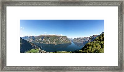 Framed Print featuring the photograph Stegastein, Norway by Andreas Levi