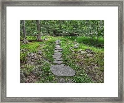 Stepping Stone Path - Kinnelon Framed Print