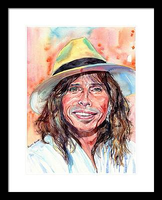 Steven Tyler Rock Music Framed Prints