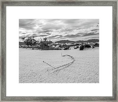 Sticky Sand Framed Print