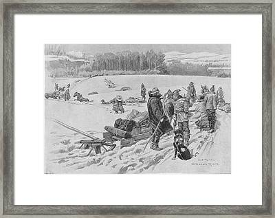 Stikine River Crossing Framed Print by Hulton Archive