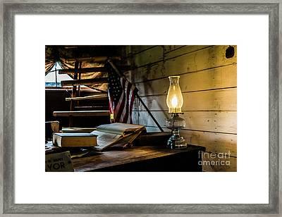 Still Burning Bright Framed Print