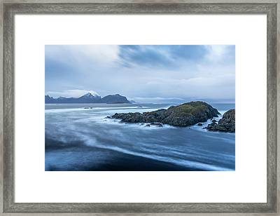 Still Rocks In The Storm Framed Print