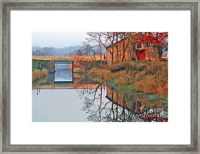Still Waters On The Canal Framed Print