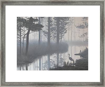 Framed Print featuring the painting Still Waters by Peter Mathios