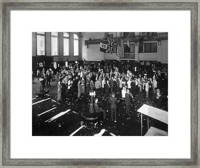 Stock Exchange Framed Print by Edwin Levick