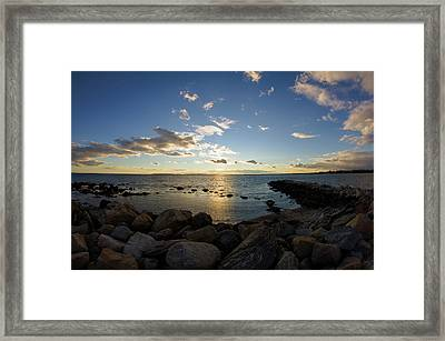 Stonington Point On The Rocks - Stonington Ct Framed Print