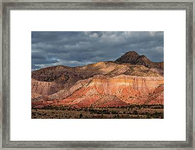 Storm Above Ghost Ranch Mountains Framed Print