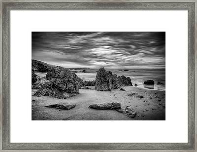 Framed Print featuring the photograph Storm At Leo Carrillo by John Rodrigues