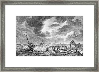 Storm At Sea Framed Print by Hulton Archive
