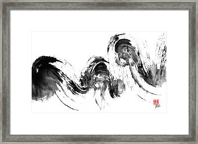Storm At Sea Framed Print