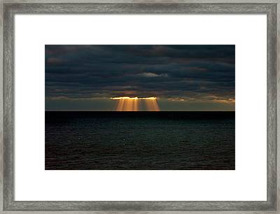 Storm Brewing Framed Print by By Ken Ilio