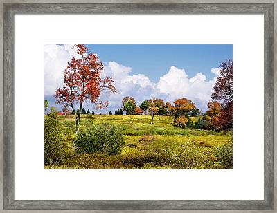 Framed Print featuring the photograph Storm Clouds Over Country Landscape by Christina Rollo