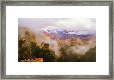Storm In The Canyon Framed Print