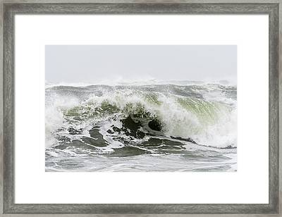 Storm Surf Spray Framed Print
