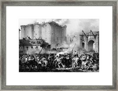 Storming The Bastille Framed Print by Hulton Archive