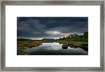 Stormy Day In Maine Framed Print