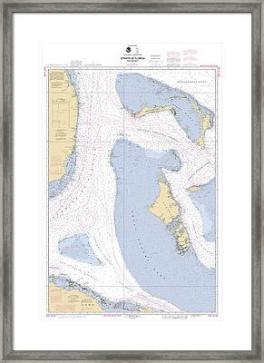 Straits Of Florids, Eastern Part Noaa Chart 4149 Edited. Framed Print