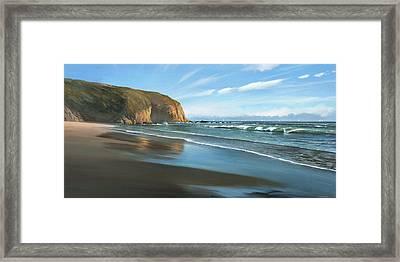 Strands Beach Dana Point Oil Painting Framed Print