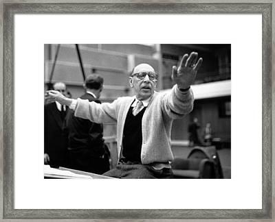 Stravinsky Conducts Framed Print by Erich Auerbach