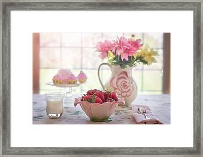 Strawberry Breakfast Framed Print