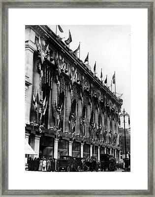Street Decorations Framed Print by Topical Press Agency