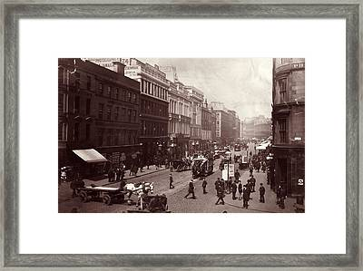 Street In Glasgow Framed Print by Hulton Archive