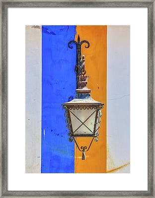 Street Lamp Of Obidos Framed Print