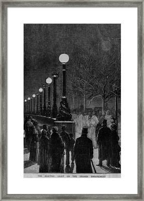 Street Lights Framed Print by Hulton Archive