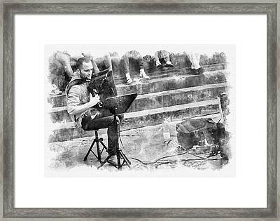 Street Musician In Florence Framed Print