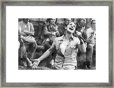 Street Singer In Florence Framed Print