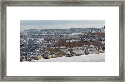 Striped Overview Framed Print