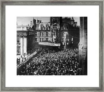 Student Protest Framed Print by Hulton Archive