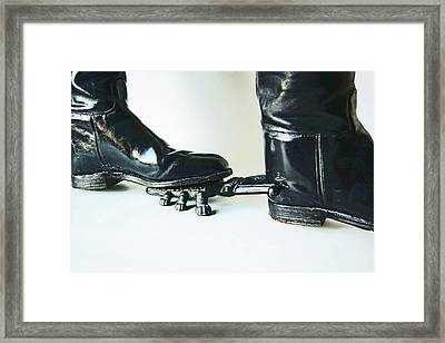 Studio. Boots And Boot Pull. Framed Print