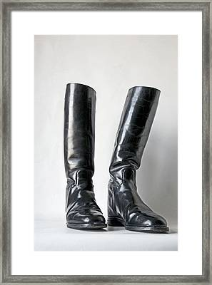 Studio. Riding Boots. Framed Print