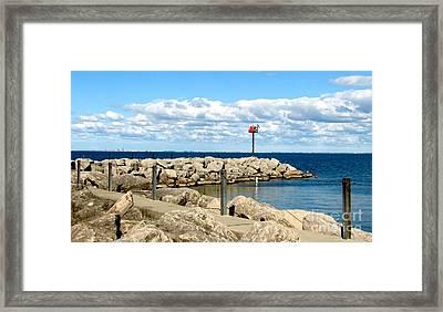 Sturgeon Point Marina On Lake Erie Framed Print