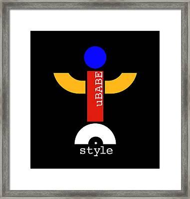 Style Black Framed Print