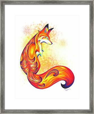 Stylized Fox I Framed Print