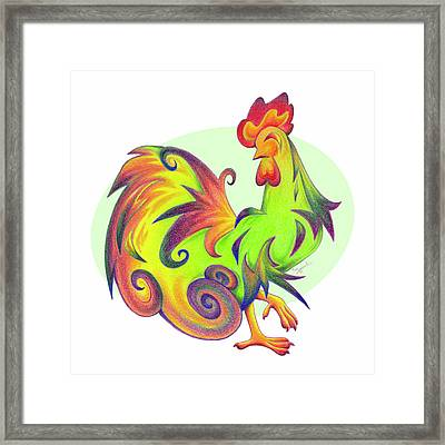 Stylized Rooster I Framed Print