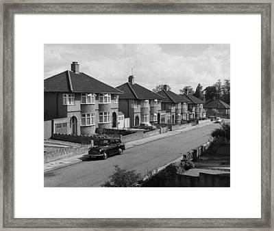Suburbia Framed Print by L. V. Clark