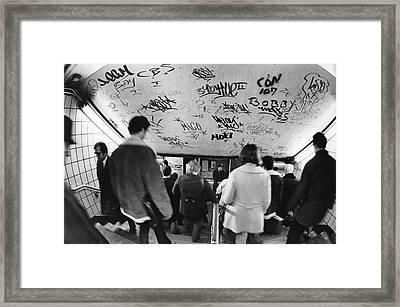 Subway Graffiti Framed Print by Fred W. McDarrah