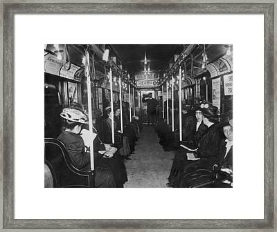 Subway Passengers Framed Print by Hulton Archive