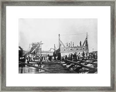Suez Canal Framed Print by General Photographic Agency