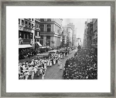 Suffragette Parade Framed Print by Paul Thompson
