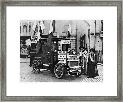 Suffragettes Campaign Framed Print by Topical Press Agency