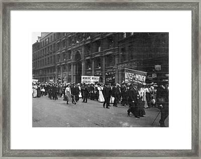 Suffragettes Framed Print by F. J. Mortimer