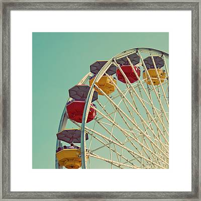 Framed Print featuring the photograph Summer Fun - Ferris Wheel Art Print by Melanie Alexandra Price