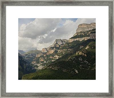 Framed Print featuring the photograph Summer In The Anisclo Canyon by Stephen Taylor