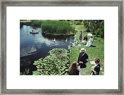Summer Picnic Framed Print by Slim Aarons