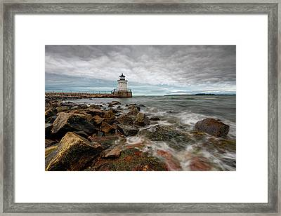 Summer Tides At Bug Light Framed Print